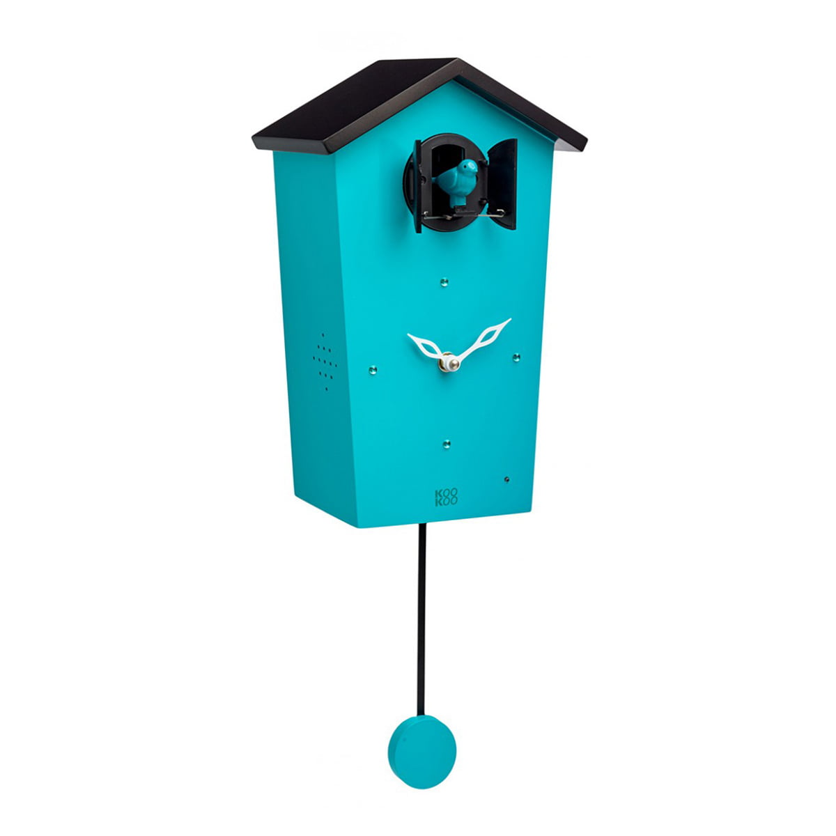 KooKoo - Bird House Kuckucksuhr, petrol (Limited Edition) | Dekoration > Uhren > Kuckucksuhren | Petrolblau | Mdf holz | KooKoo
