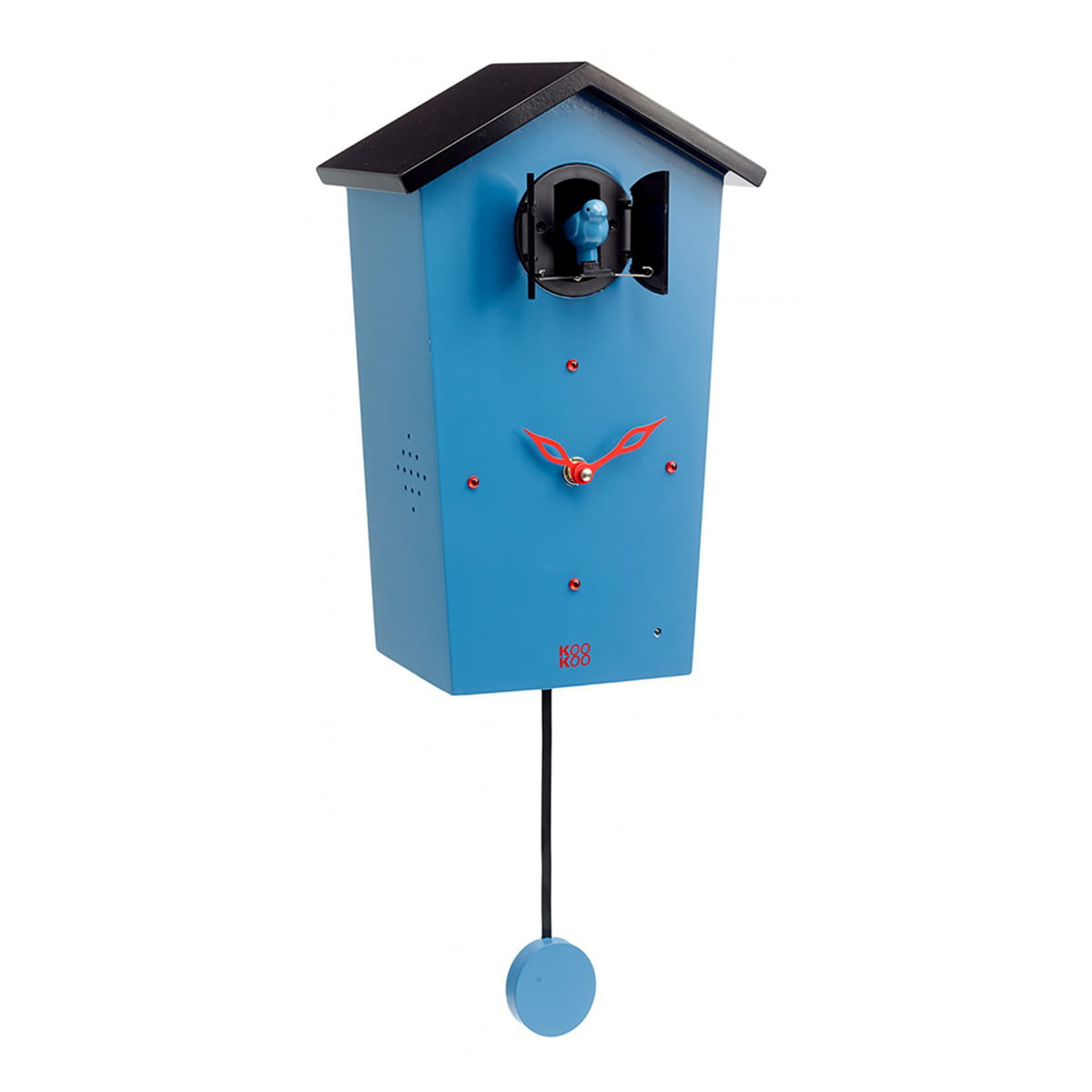 KooKoo - Bird House Kuckucksuhr, blau (Limited Edition) | Dekoration > Uhren > Kuckucksuhren | Blau | Mdf holz | KooKoo