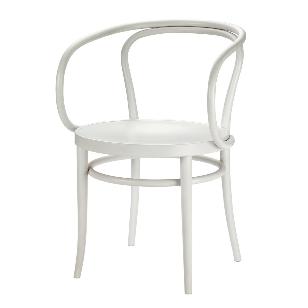 Thonet - 209 M Bugholzstuhl, Muldensitz / Buche weiß lasiert (TP 200) | Küche und Esszimmer > Stühle und Hocker > Holzstühle | Weiß | Thonet