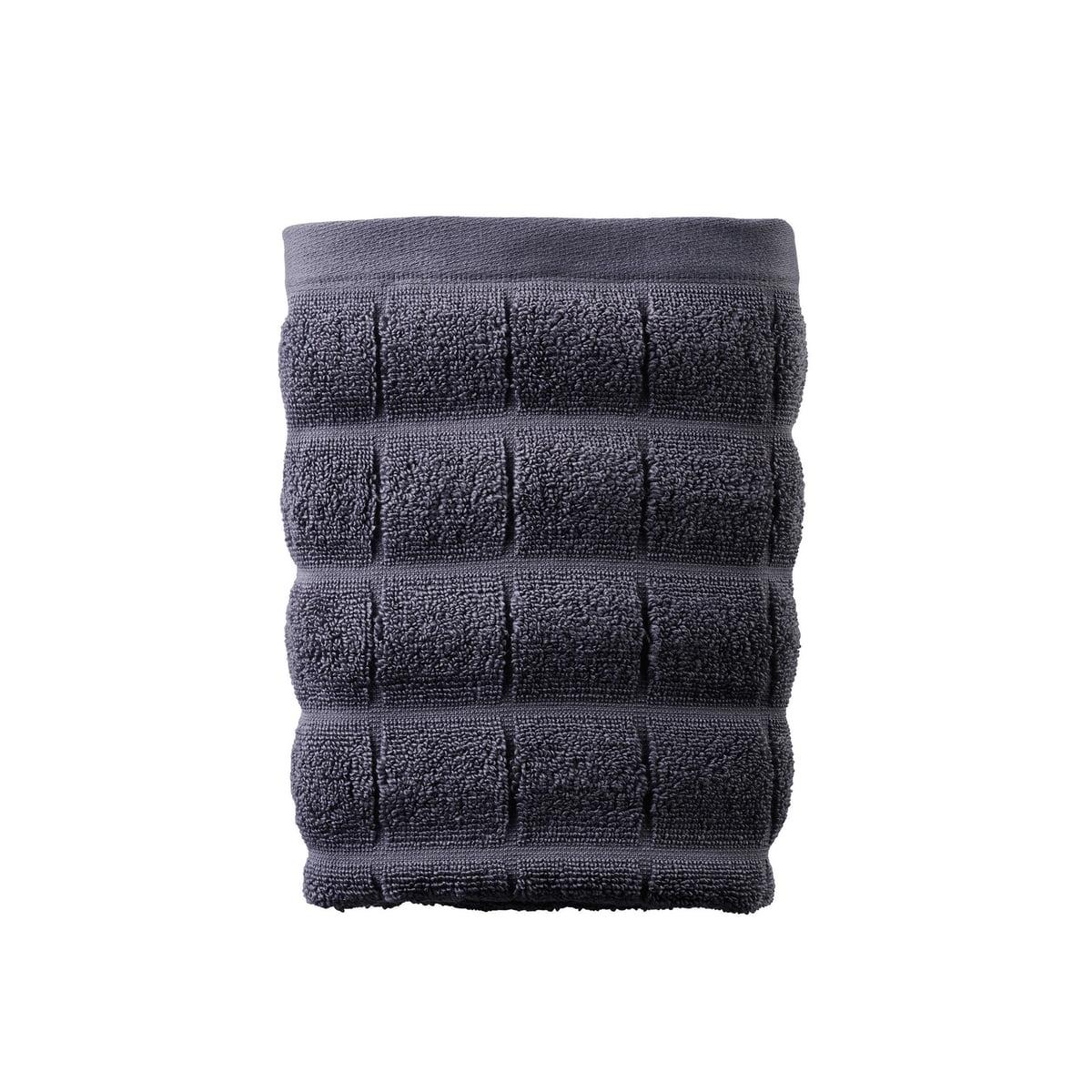 Juna - Tiles Handtuch 50 x 100 cm, castlerock   Bad > Handtücher > Handtuch-Sets   Blaugrau   Juna