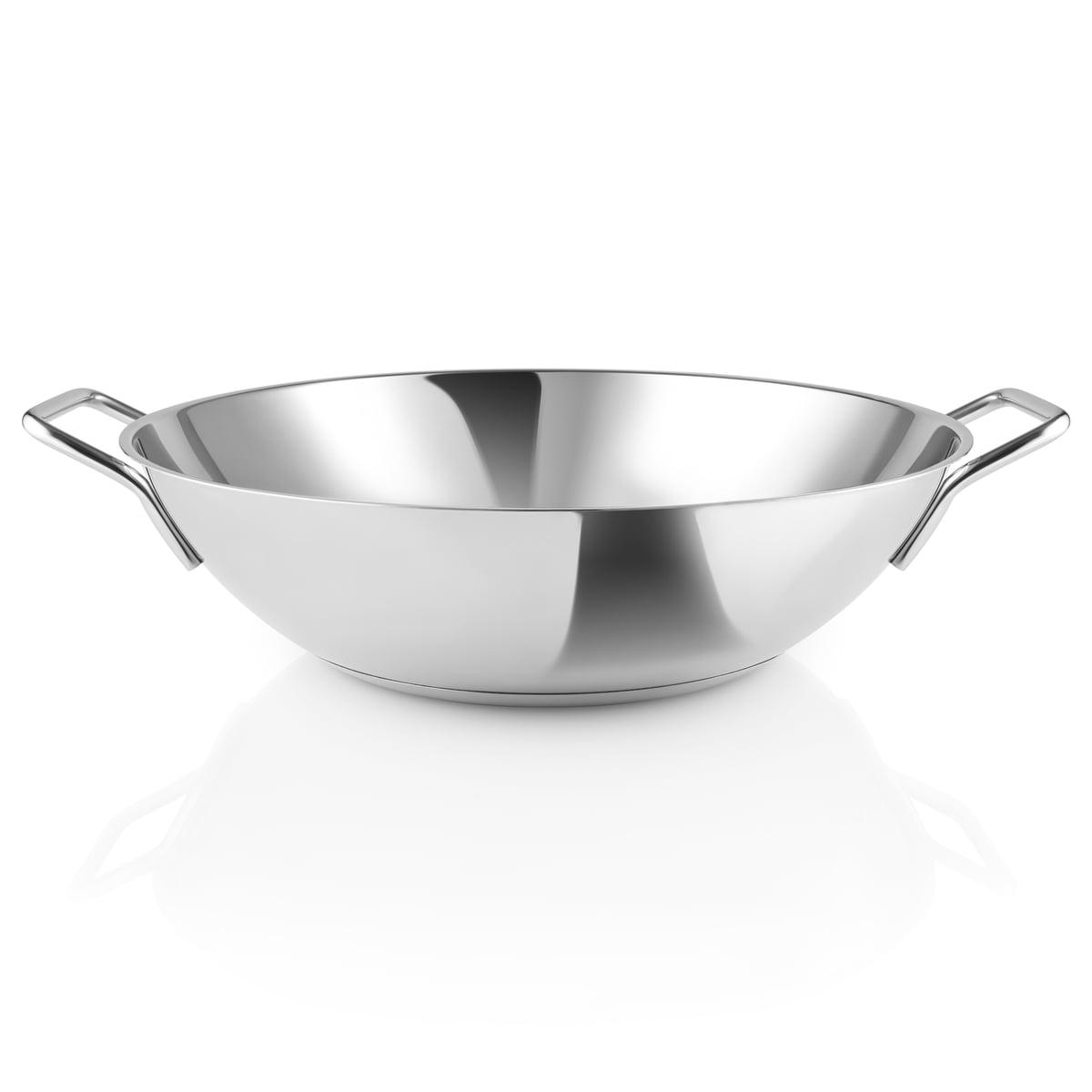 Eva Solo Eva Trio - Wok-Pfanne 5 l, Ø 32 cm, Edelstahl | Küche und Esszimmer > Kochen und Backen > Pfannen | Edelstahl | Eva Solo