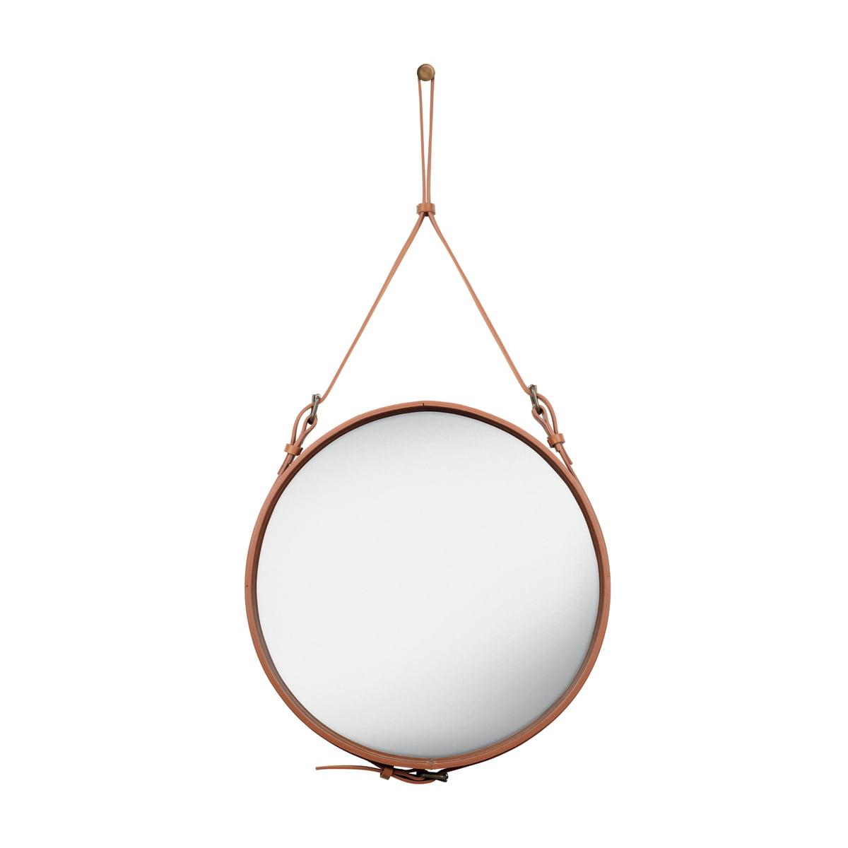 Gubi - Adnet Spiegel Ø 58 cm, braun | Flur & Diele > Spiegel | Gubi