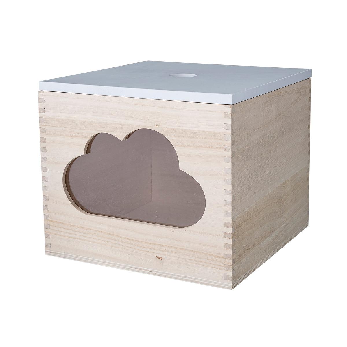 Bloomingville - Spielzeugkiste Wolke, weiß/ natur | Kinderzimmer > Spielzeuge > Spielzeugkisten | Hellbraun | Paulowniaholz -  plexiglas | Bloomingville