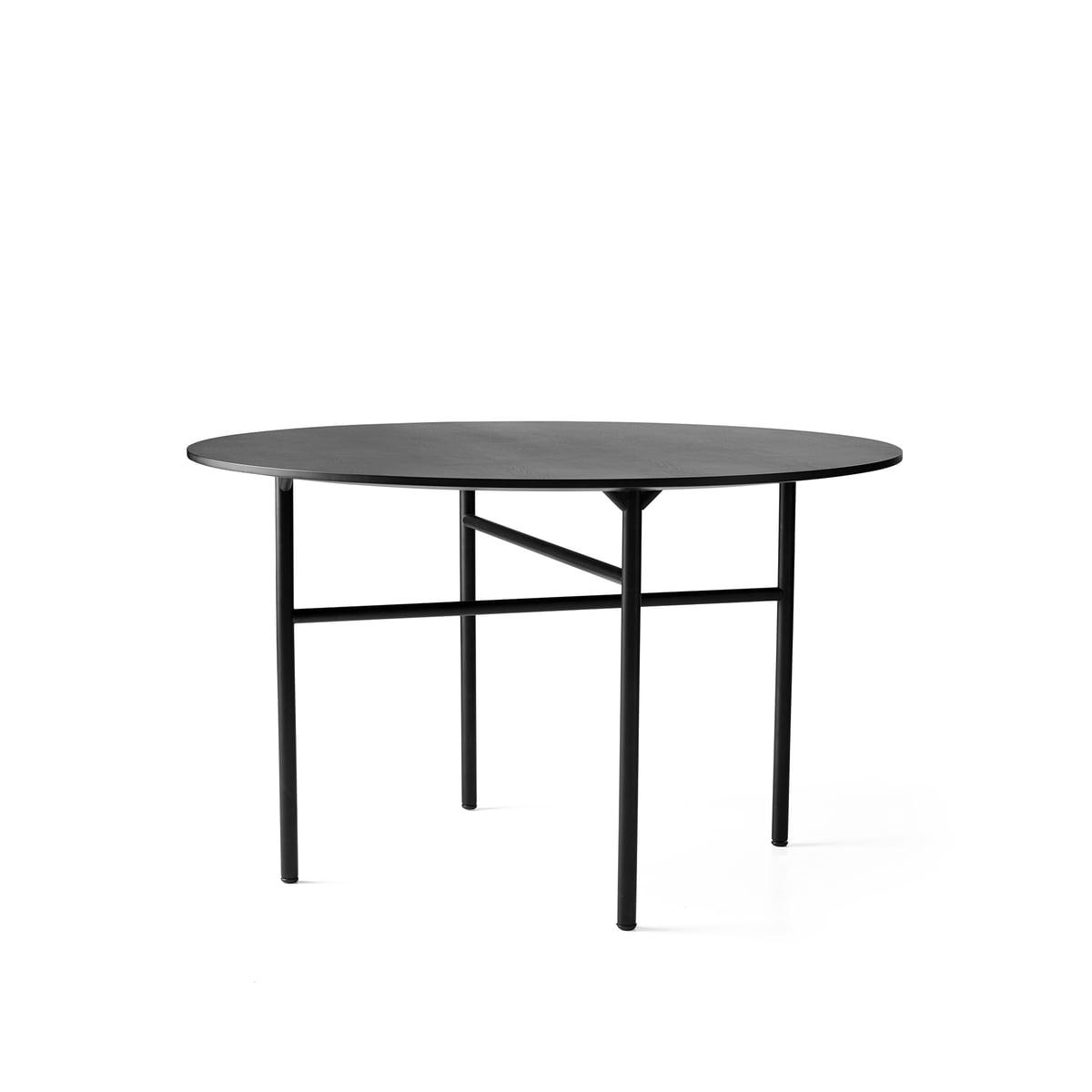Menu snaregade table rund 120 cm schwarz funiert