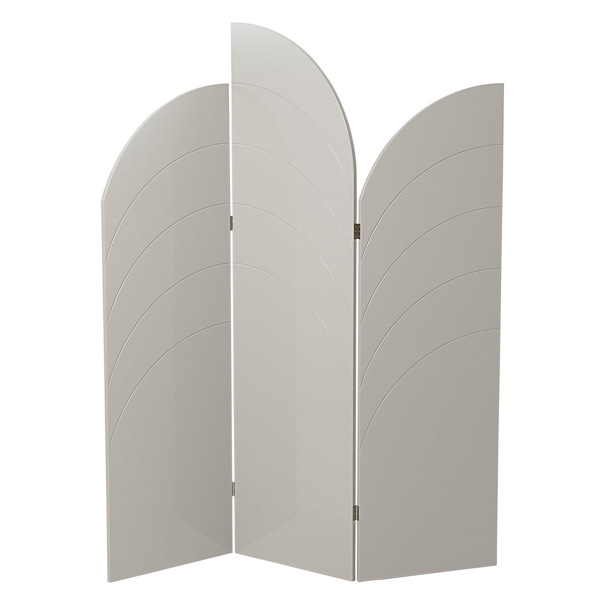 ferm Living - Unfold Paravent, grau (RAL 3502-Y) | Wohnzimmer > Regale > Raumteiler | Grau | Hochglanz lackiertes mdf. innenleben aus einer wabenstruktur | ferm living