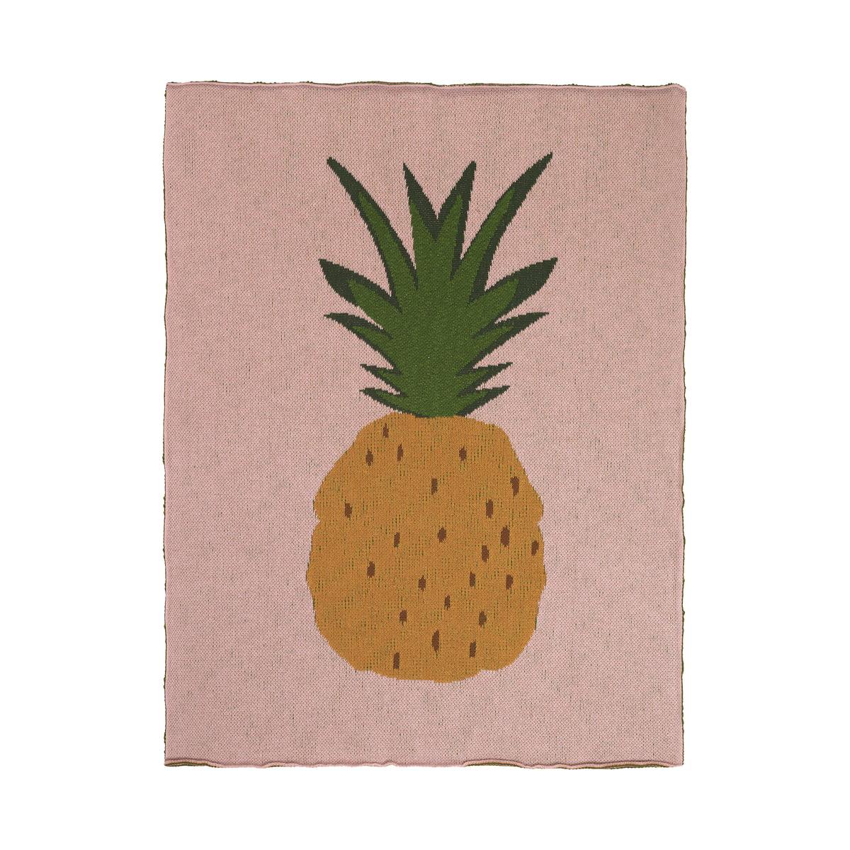 ferm Living - Fruiticana Kinderdecke, 80 x 100 cm, Ananas   Kinderzimmer > Textilien für Kinder > Kinderbettwäsche   Mehrfarbig   ferm living