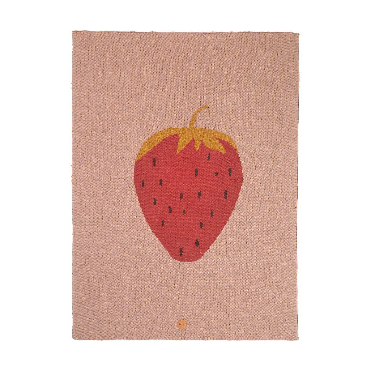 ferm Living - Fruiticana Kinderdecke, 80 x 100 cm, Erdbeere   Kinderzimmer > Textilien für Kinder > Kinderbettwäsche   Mehrfarbig   ferm living