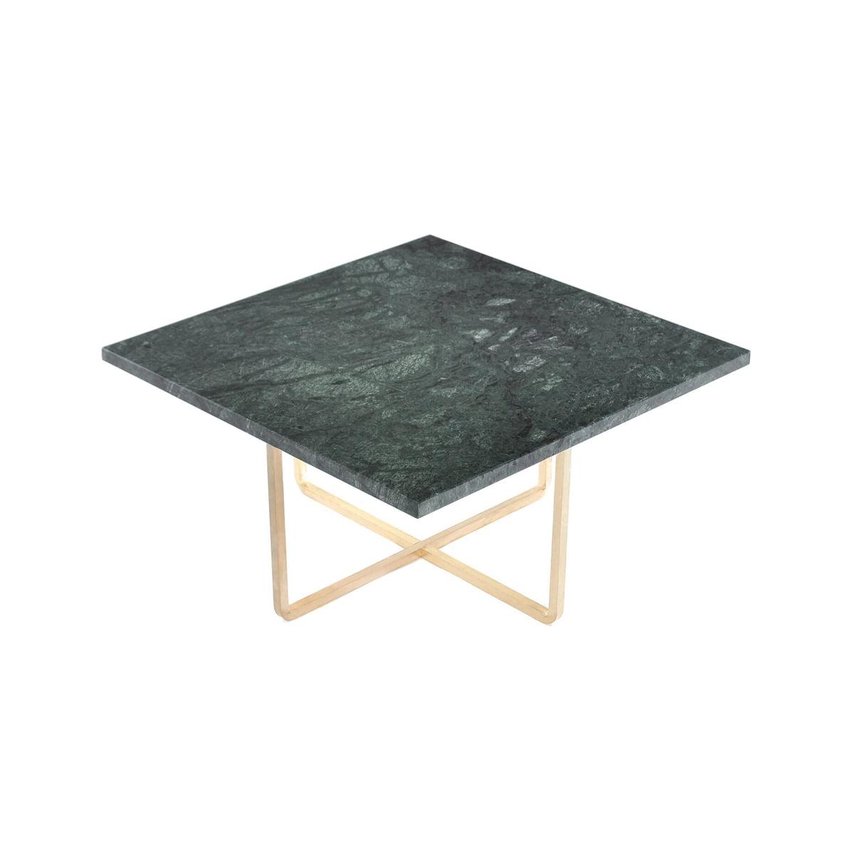 Ox denmarq ninety table 60 x 60 cm messing marmor gruen