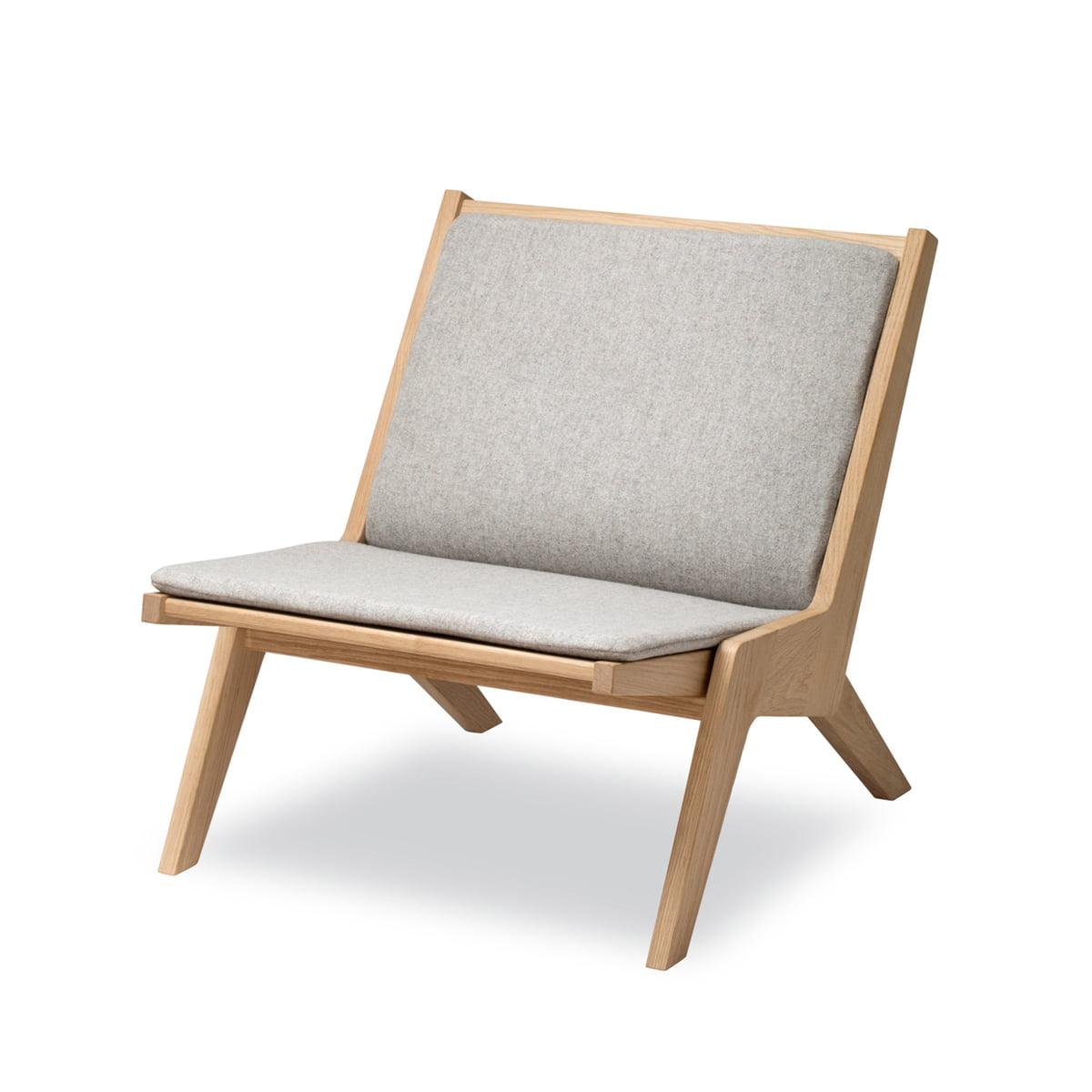 Skagerak - Miskito Lounge Chair, Eiche / hellgrau | Wohnzimmer > Sessel > Loungesessel | Hellgrau | Skagerak