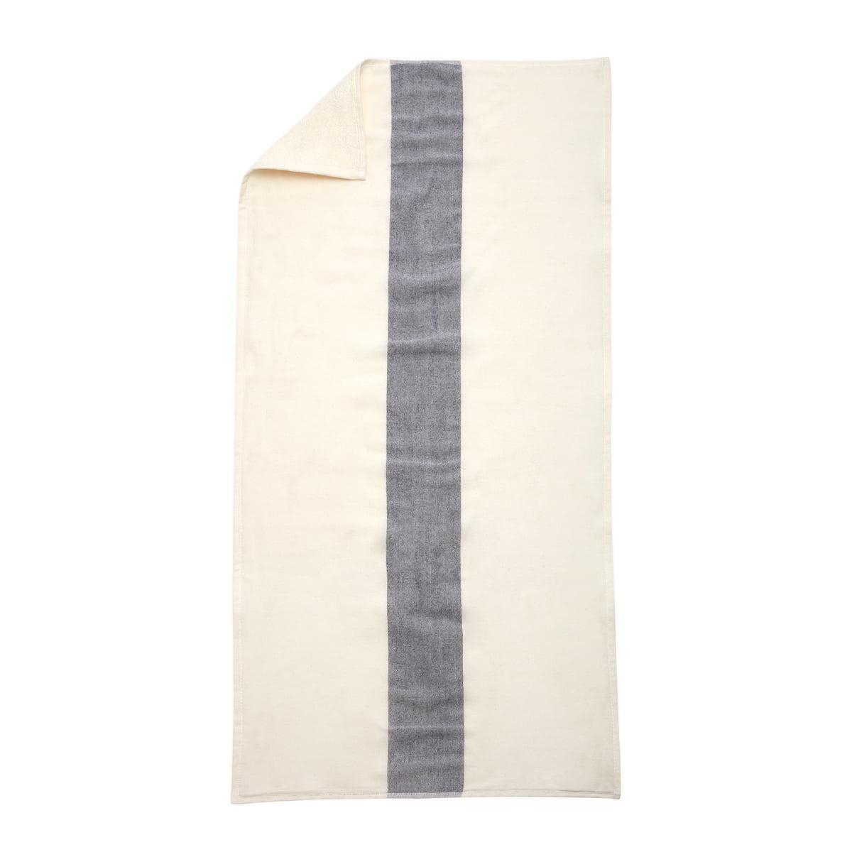 Skagerak - Stripes Towel Badetuch, 70 x 140 cm, whisper white / dark blue   Bad > Handtücher > Badetücher   Blau/weiß   Skagerak