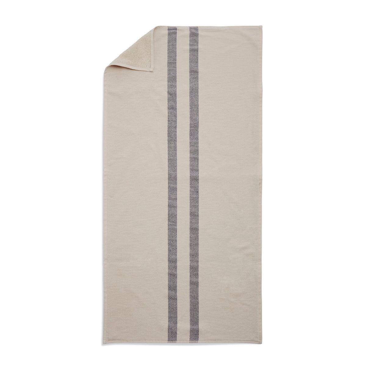 Skagerak - Stripes Towel Badetuch, 70 x 140 cm, cream / dark blue   Bad > Handtücher   Beige   Baumwolle   Skagerak