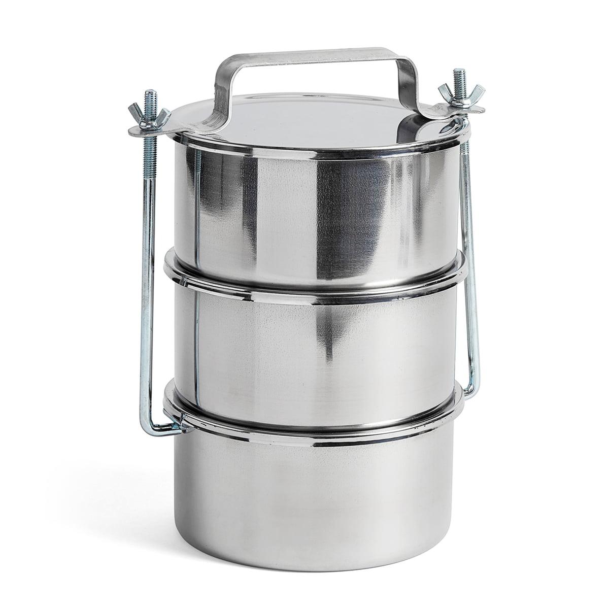 Hay - Picknick Container L, Edelstahl | Büro > Büroschränke | Hay