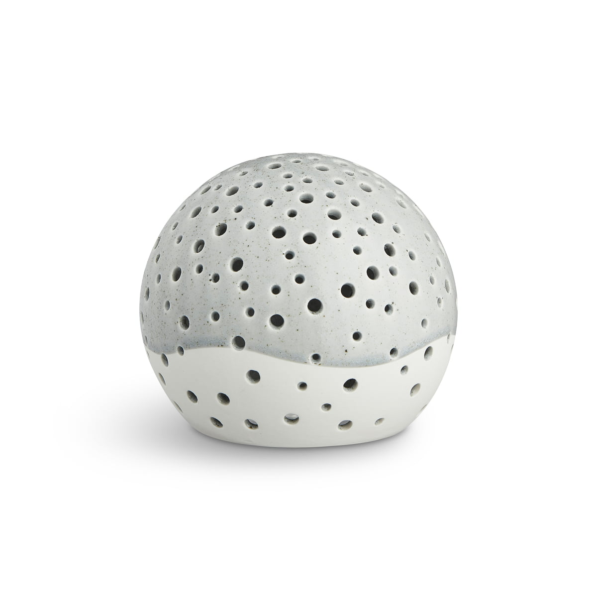 Kähler Design - Nobili Teelichtleuchter Kugel Ø 14 cm, grau | Dekoration > Kerzen und Kerzenständer > Teelichter | Grau | Keramik | Kähler Design