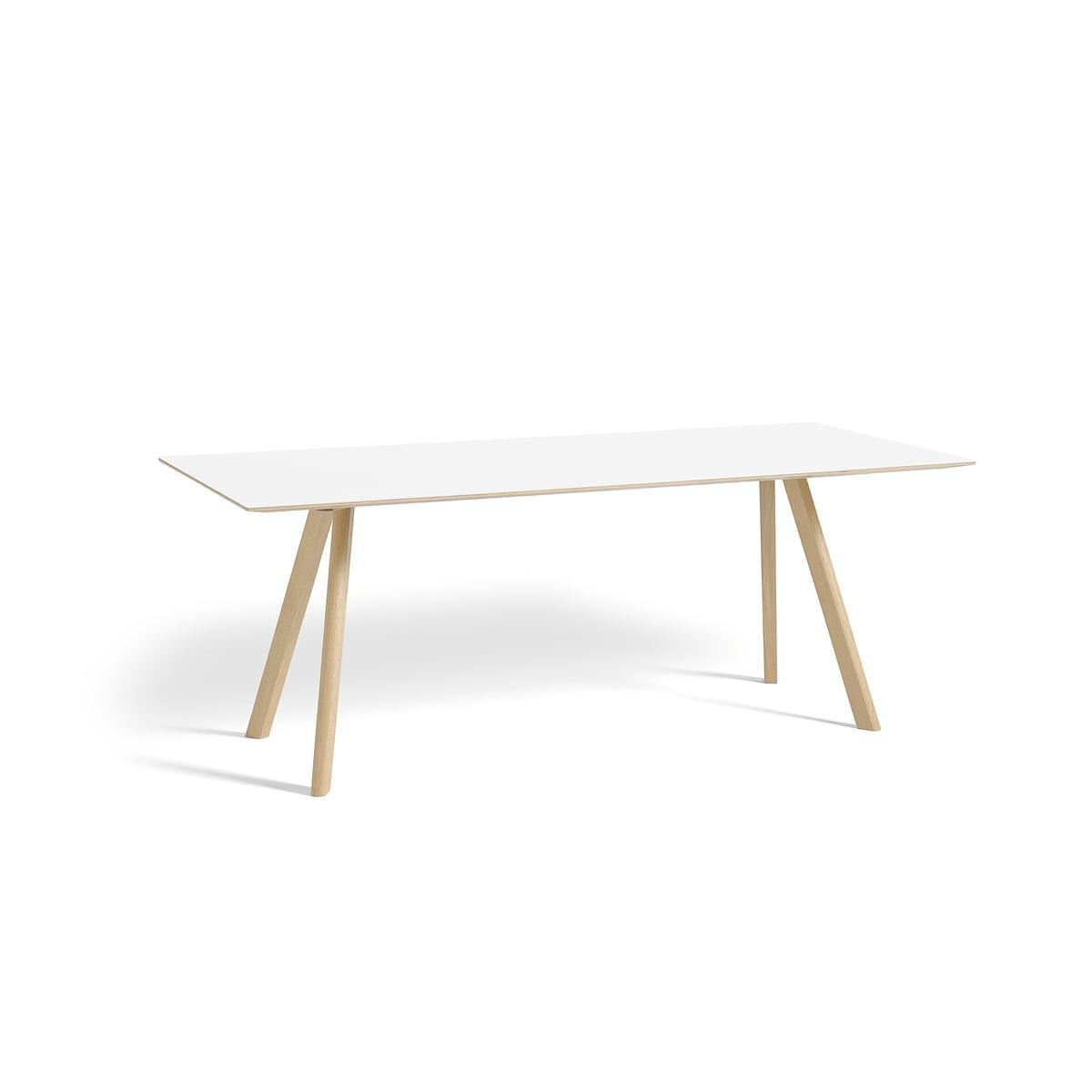 Hay - Copenhague CPH30 Esstisch 200 x 90 cm, Eiche matt lackiert / Laminat weiß | Baumarkt > Bodenbeläge > Laminat | Weiß | Hay