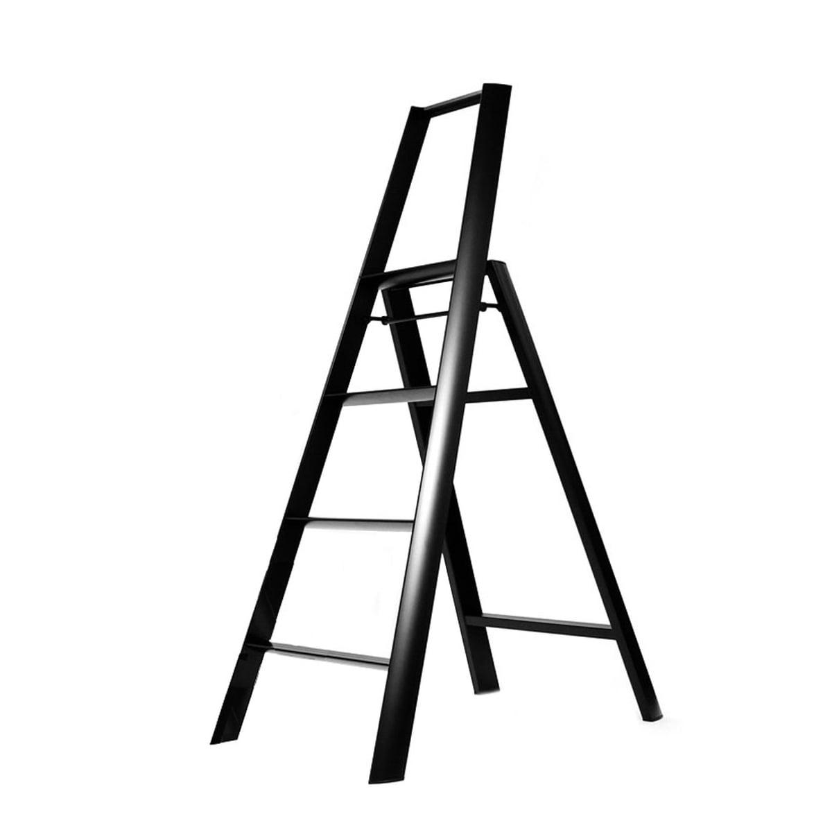 Metaphys - Lucano 4 Step Trittleiter, schwarz | Baumarkt > Leitern und Treppen | Schwarz | Aluminium -  abs | Metaphys