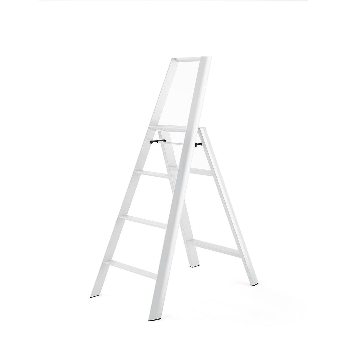 Metaphys - Lucano 4 Step Trittleiter, weiß | Baumarkt > Leitern und Treppen > Trittleiter | Weiß | Aluminium -  abs | Metaphys