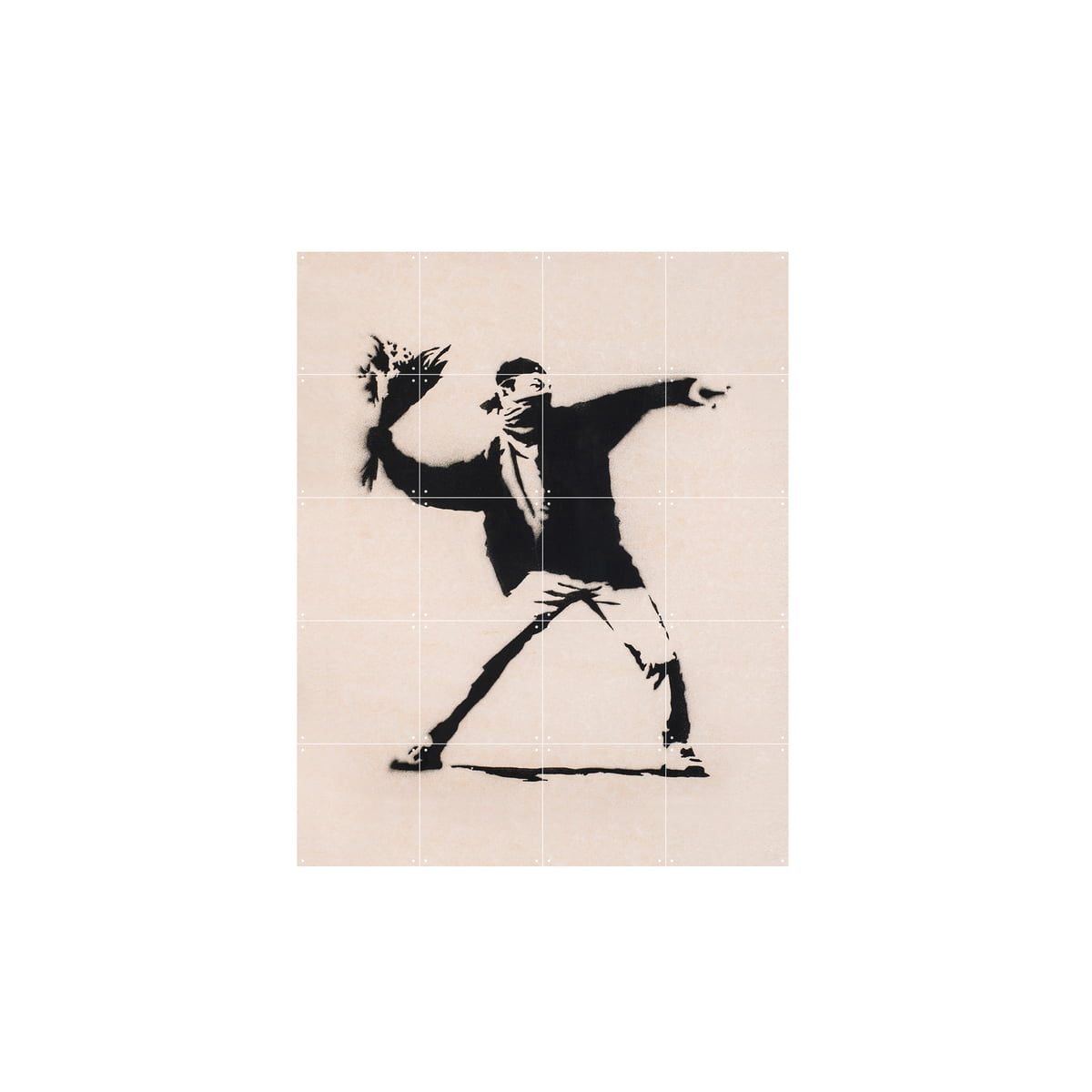Ixxi love is in the air 80 x 100cm banksy frei