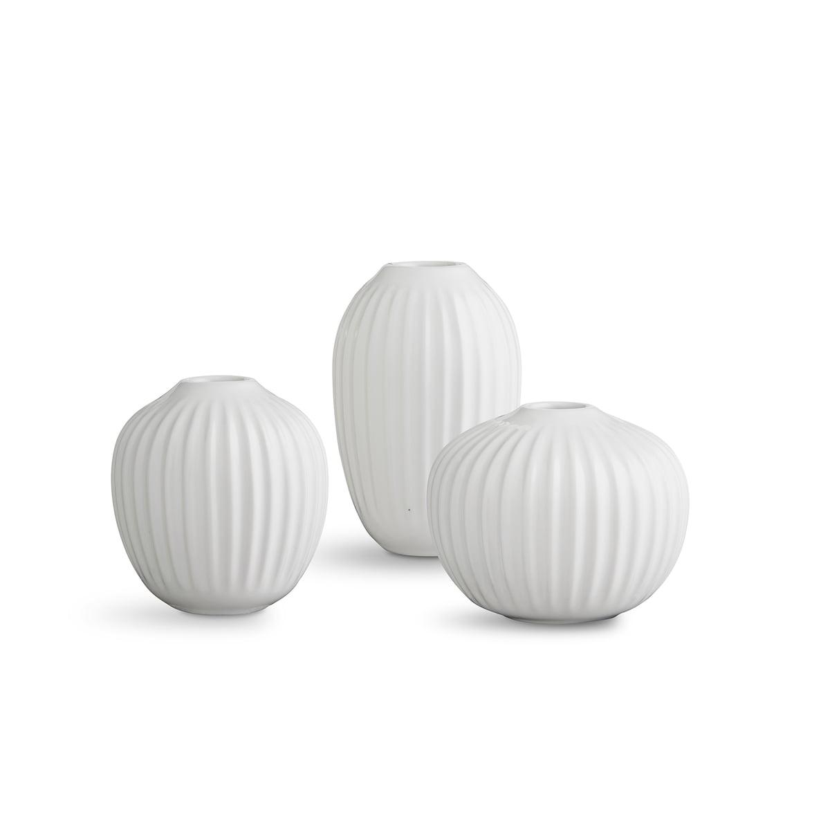 Kaehler design hammershoi vase miniatur weiss 3er set freisteller