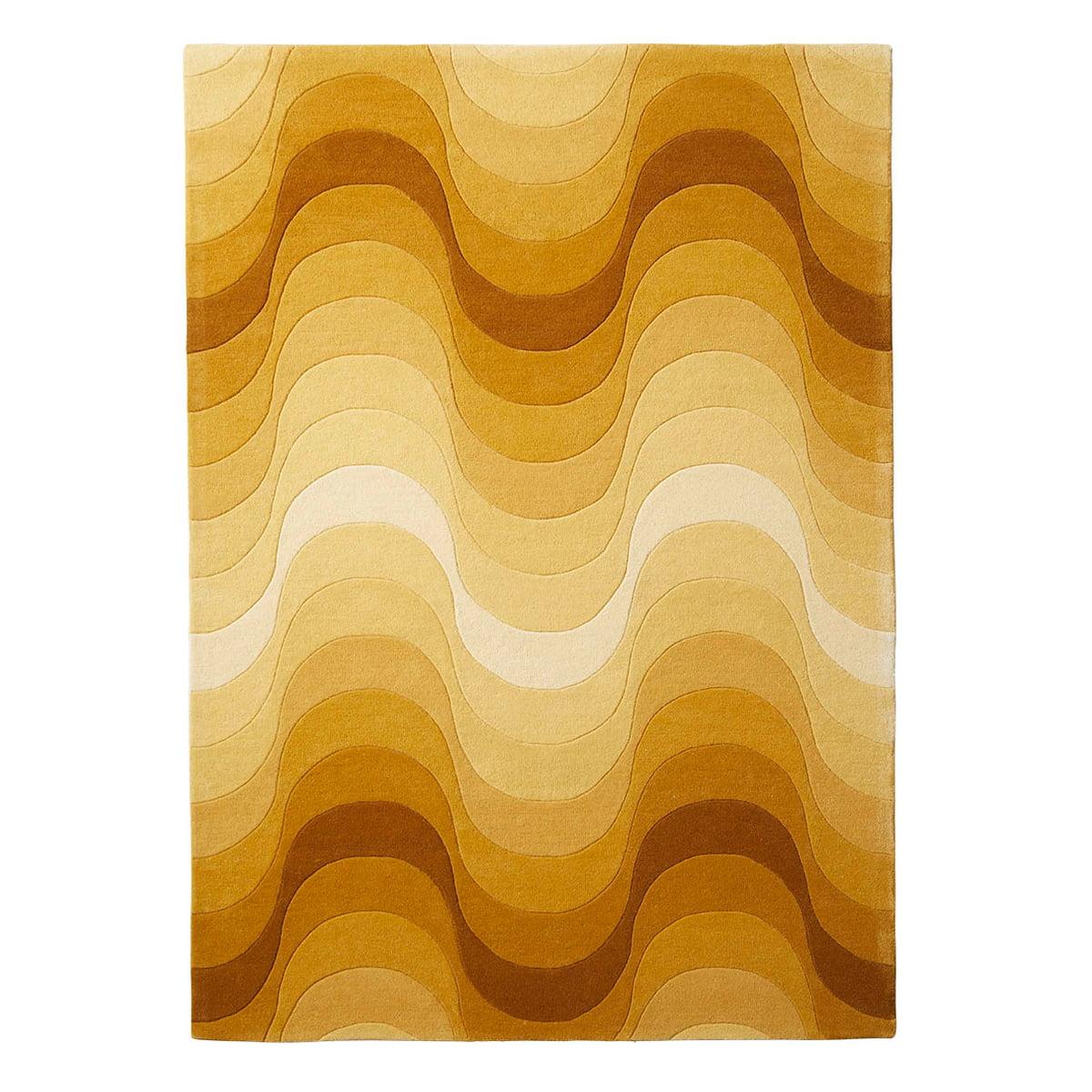 Verpan wave teppich 240 x 170 cm gelb frei