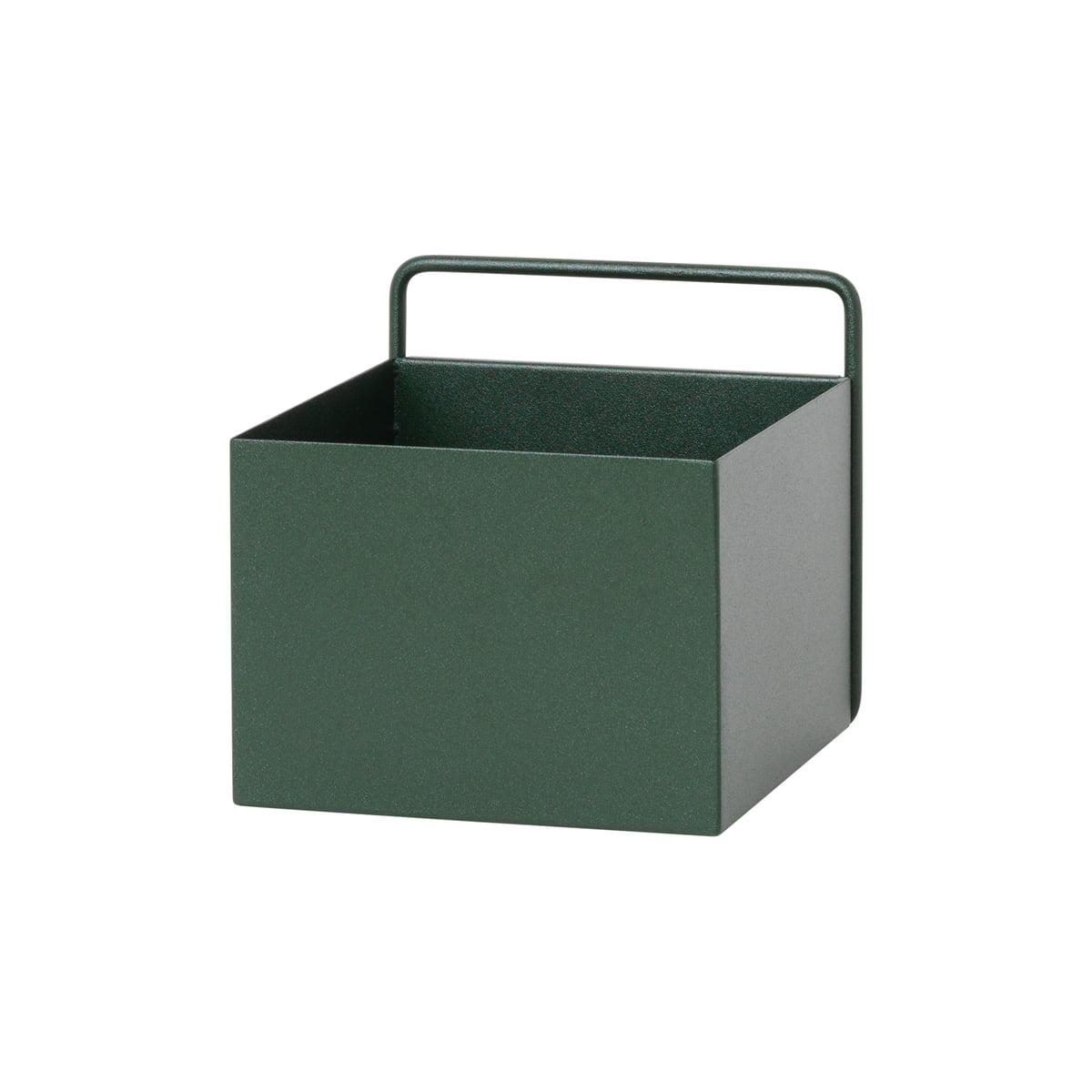 Ferm living  wall box quadratisch gruen frei