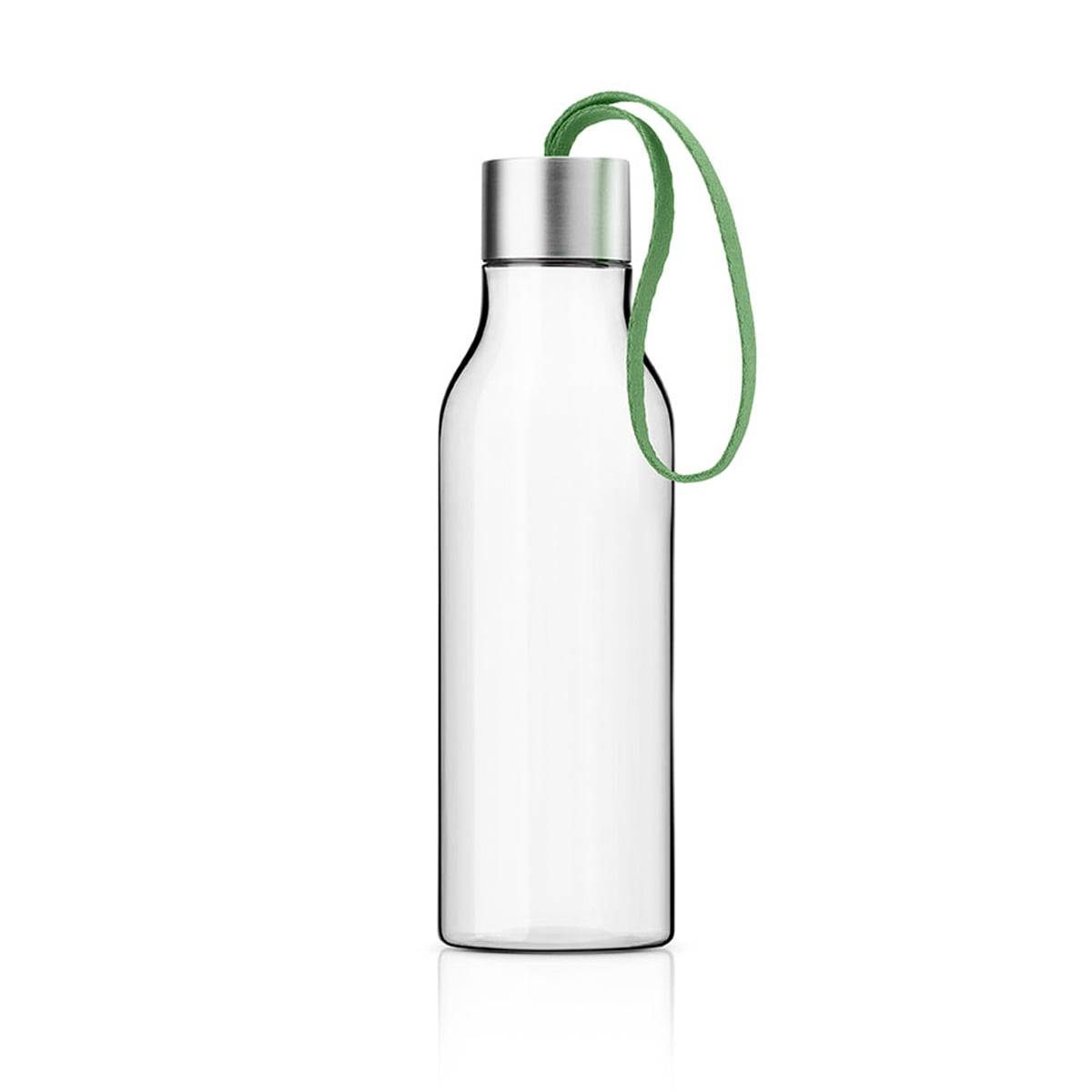 Eva Solo A/S Eva Solo - Trinkflasche 0,5 l, botanic green | Küche und Esszimmer | Grün | Flasche: schlagfestes tritan -  bpa frei -  deckel: 18/10 edelstahl -  pp kunststoff -  silikonring -  band: terylen-polyester | Eva Solo A/S