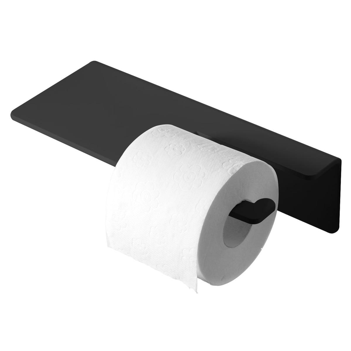 Radius Design - Puro Toilettenpapierhalter, schwarz | Bad > Bad-Accessoires > Toilettenpapierhalter | Schwarz | Aluminium pulverbeschichtet | Radius Design
