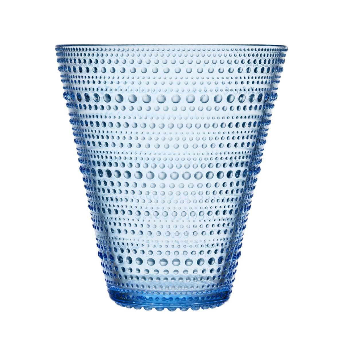 Iittala - Kastehelmi Vase 154 mm, aqua | Dekoration > Vasen | Transparent blau | Iittala