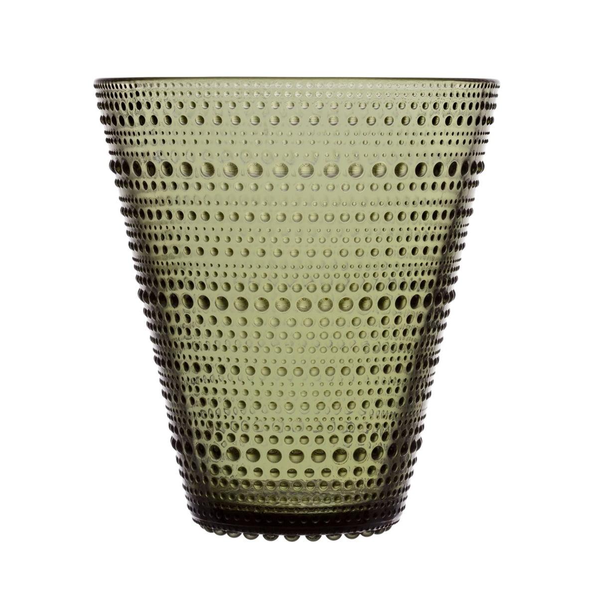 Iittala - Kastehelmi Vase 154 mm, moosgrün | Dekoration > Vasen > Tischvasen | Iittala