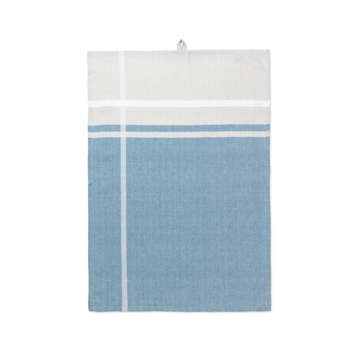 Juna - Skyline Geschirrtuch, 50 x 70 cm, petroleum / sand | Küche und Esszimmer > Küchentextilien | Mehrfarbig | Juna