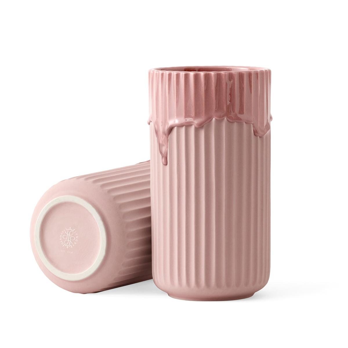 Lyngby porcelan lyngbyvase h 20 cm rosa frei