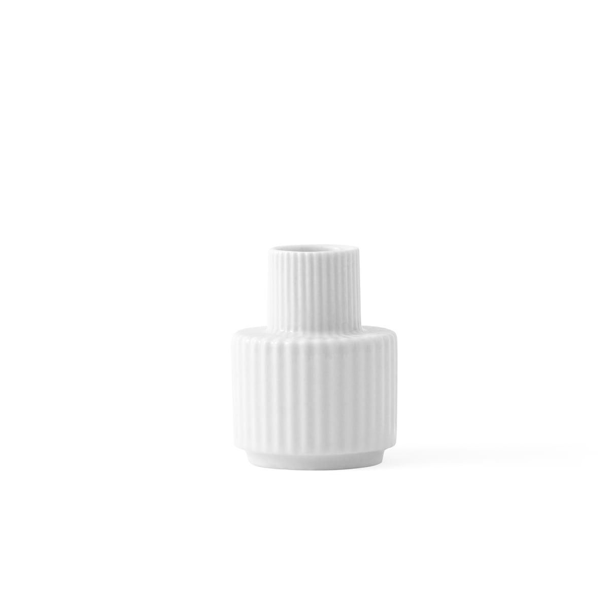Lyngby porcelan cecile toklum kerzenhalter weiss 7cm frei