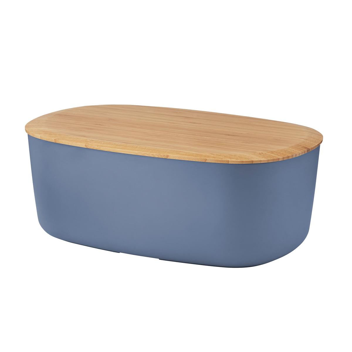 Rig-Tig by Stelton - Box-It Brotkasten, dunkelblau   Küche und Esszimmer > Aufbewahrung > Brotkasten   Dunkelblau   Kasten: melamin -  deckel: bambusholz   Stelton