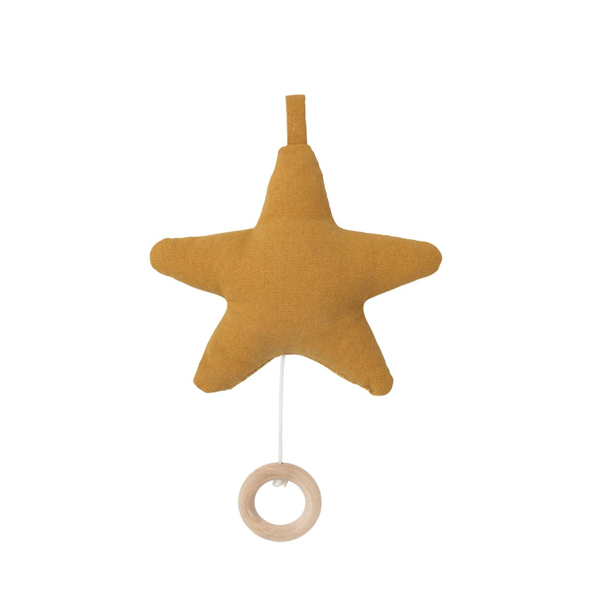 ferm Living - Star Spieluhr, senf | Kinderzimmer > Spielzeuge > Spieluhren | Senf | Bezug: 100% baumwolle -  füllung: polyester | ferm living