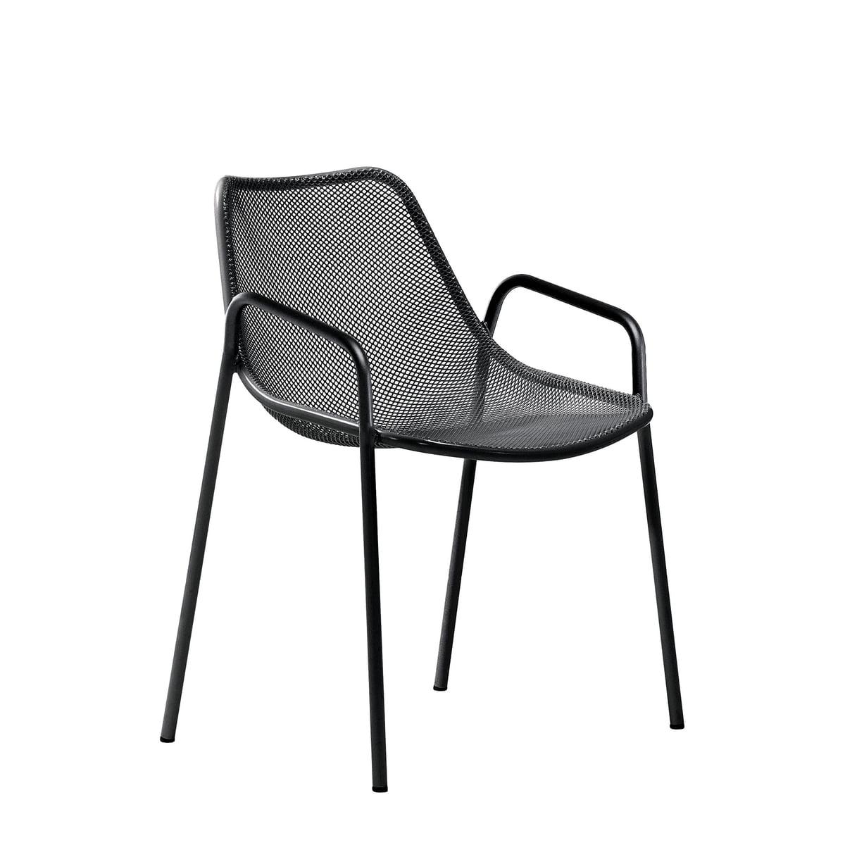 Emu - Round Armlehnstuhl, schwarz   Küche und Esszimmer > Stühle und Hocker   Schwarz   Stahl   EMU