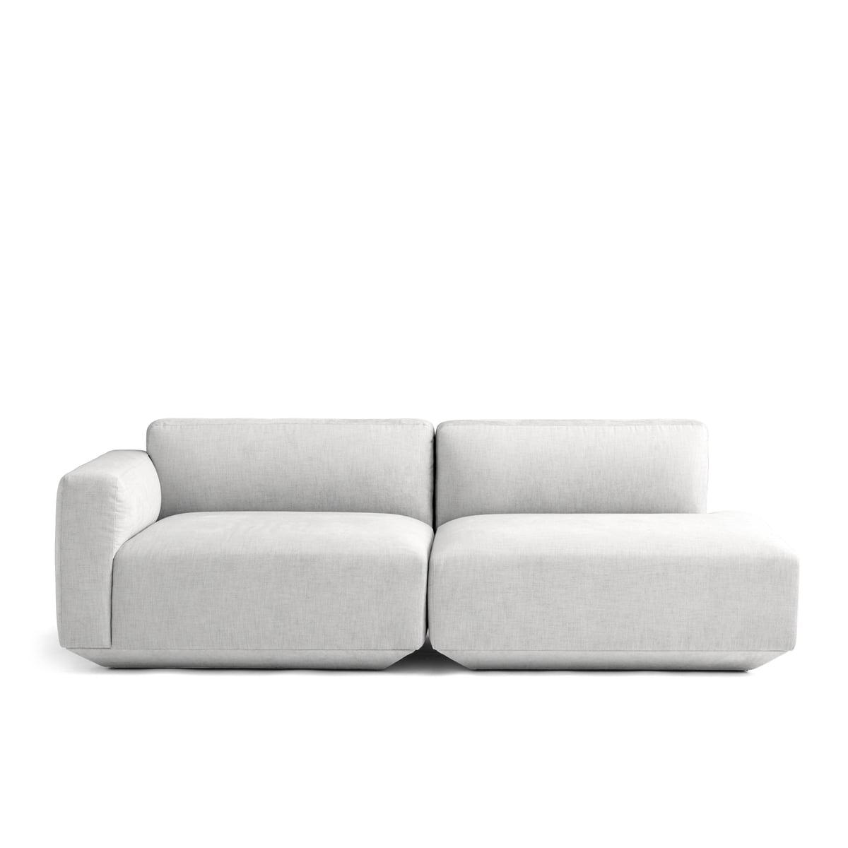 Andtradition develius 2 sitzer sofa konfiguration g kvadrat maple 112