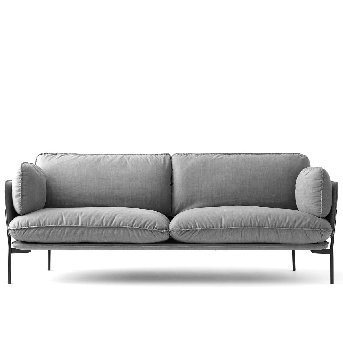 Andtradition cloud sofa ln 3 2 untergestell warm black hot madison 724 einzel