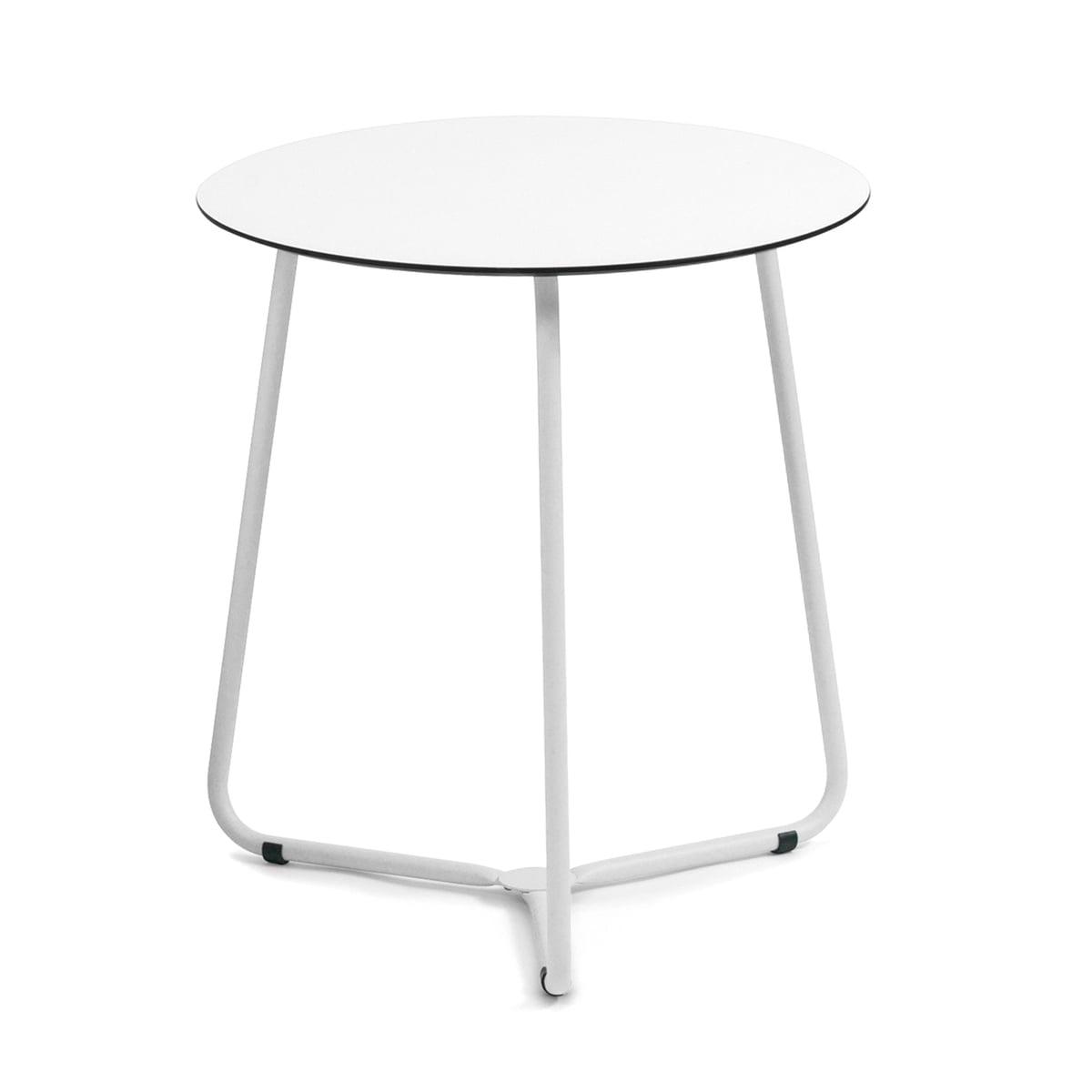 Weishäupl - Balcony Bistrotisch, HPL weiß / Edelstahl weiß | Küche und Esszimmer > Bar-Möbel > Bar-Stehtische | Weiß | Weishäupl