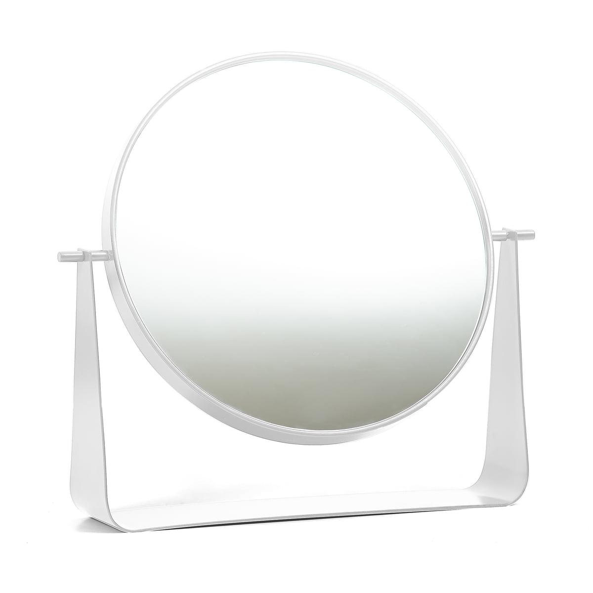 Hartô - Narcisse Tischspiegel, weiß (RAL 9016) | Flur & Diele > Spiegel > Standspiegel | Verkehrsweiß (ral 9016) | Spiegelglas -  lackiertes metall | Hartô