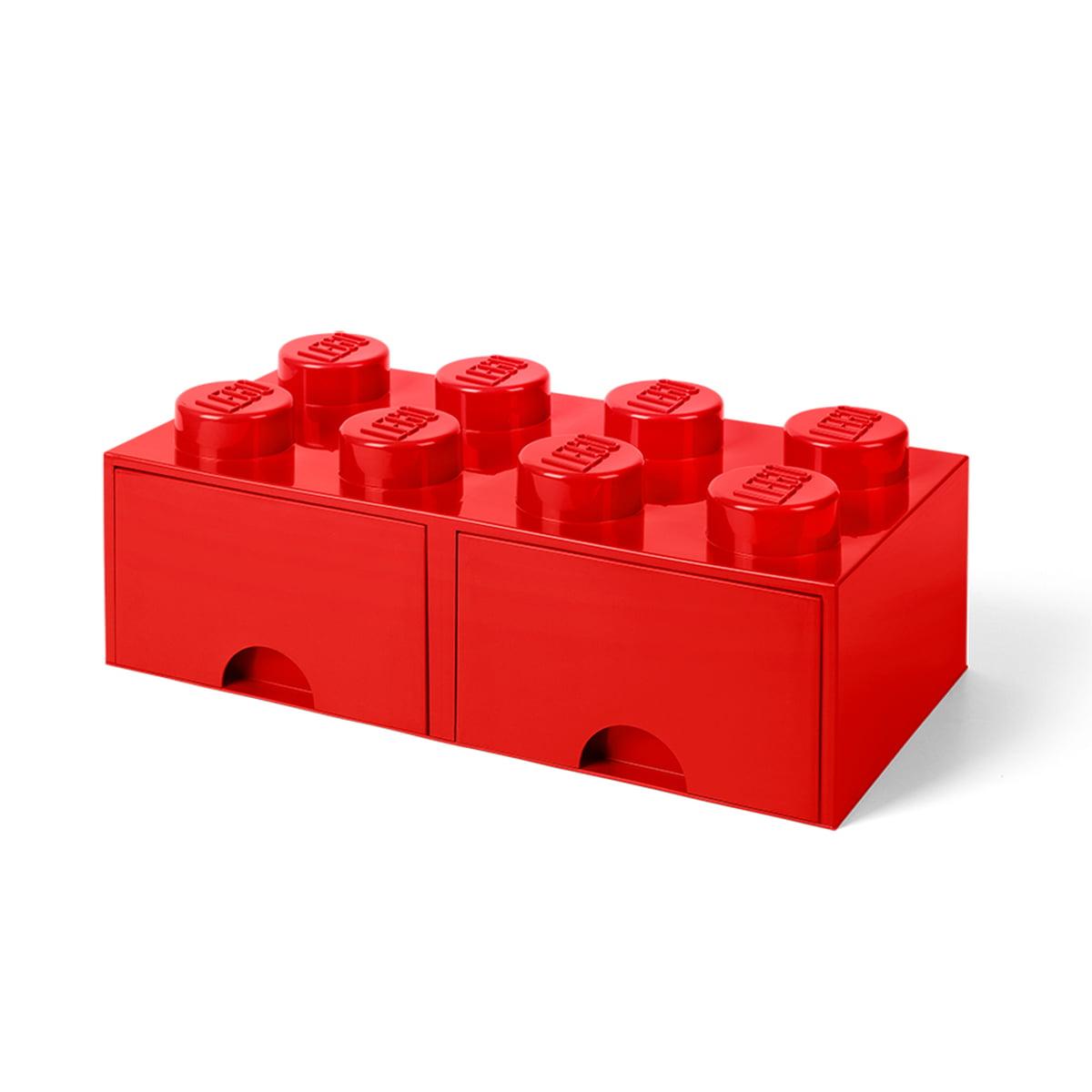 Lego - Brick Drawer 8 Aufbewahrungsbox, rot   Kinderzimmer > Spielzeuge   Rot   Lego
