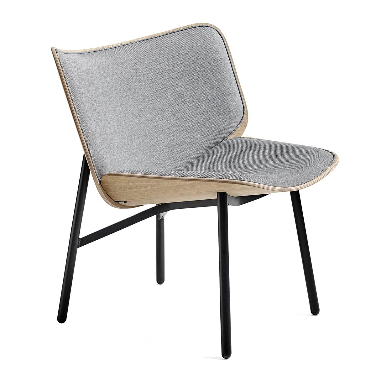Hay - Dapper Lounge Chair, Eiche matt lackiert / schwarz / Surface 120 (EU) | Wohnzimmer > Sessel > Loungesessel | Grau | Hay