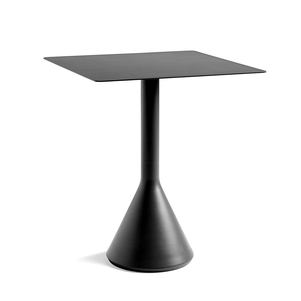 Hay - Palissade Cone Bistrotisch 65 x 65 cm, H 74 cm, anthrazit | Küche und Esszimmer > Bar-Möbel > Bar-Stehtische | Anthrazit | Hay