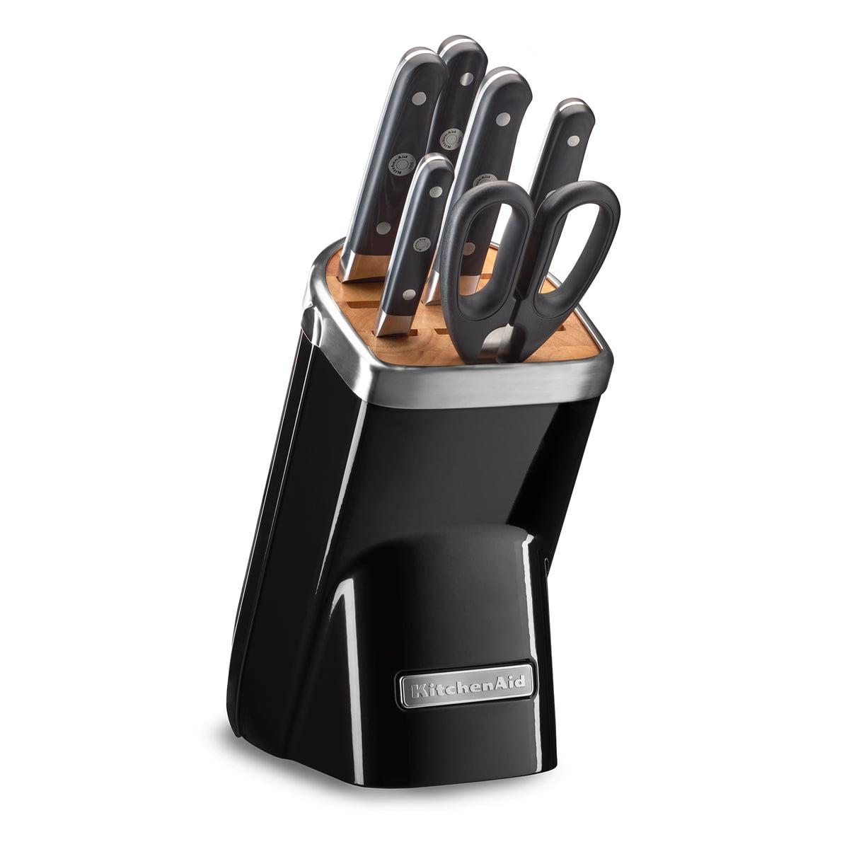 Kitchen Aid KitchenAid - Messerblock mit Messer-Set, schwarz (7 tlg.) | Küche und Esszimmer > Küchen-Zubehör > Halter und Haken | Schwarz | Kitchen Aid