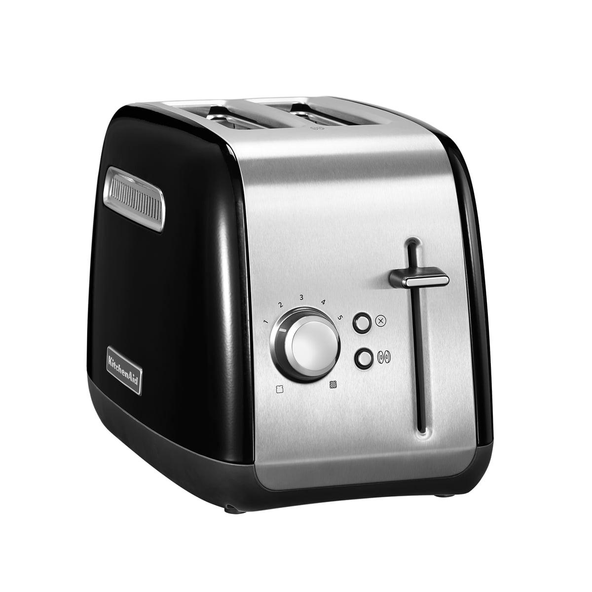 Kitchen Aid KitchenAid - Toaster Classic 5KMT2115, 2 Scheiben, onyx schwarz   Küche und Esszimmer > Küchengeräte > Toaster   Schwarz   Ganzmetallgehäuse   Kitchen Aid