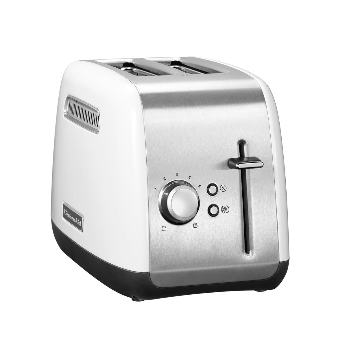 Kitchen Aid KitchenAid - Toaster Classic 5KMT2115, 2 Scheiben, weiß   Küche und Esszimmer > Küchengeräte > Toaster   Weiß   Ganzmetallgehäuse   Kitchen Aid