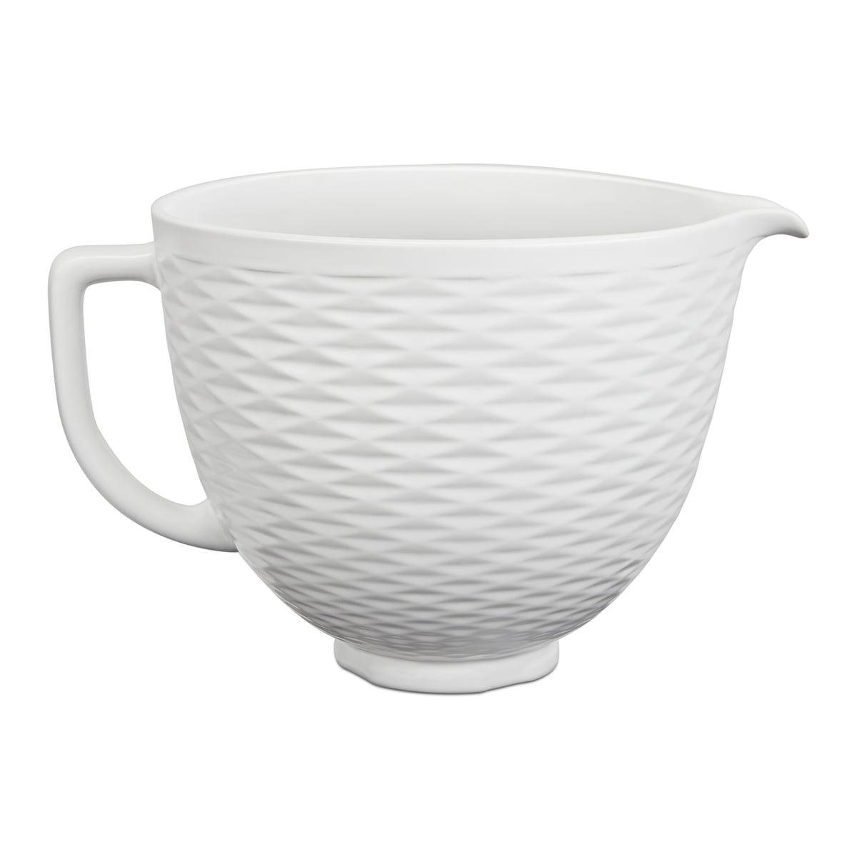 Kitchen Aid KitchenAid - Keramische Schüssel für Küchenmaschine Artisan 4.3 l und 4.8 l, weiß strukturiert   Küche und Esszimmer > Küchengeräte > Rührgeräte und Mixer   Weiß   Keramik   Kitchen Aid