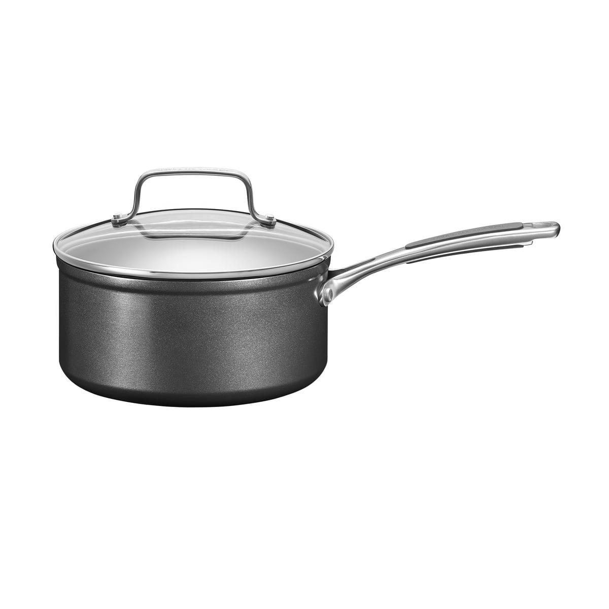 Kitchen Aid KitchenAid - Harteloxierte Kasserolle mit Deckel Ø 18 cm, schwarz | Küche und Esszimmer > Kochen und Backen > Töpfe | Schwarz | Kitchen Aid