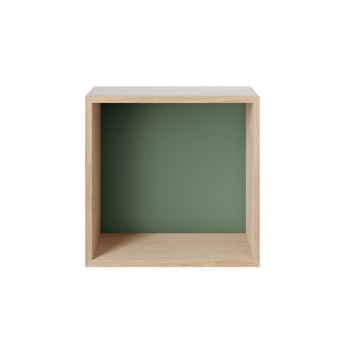Muuto mini stacked regalmodul 2 0 medium eiche rueckwand dusty green