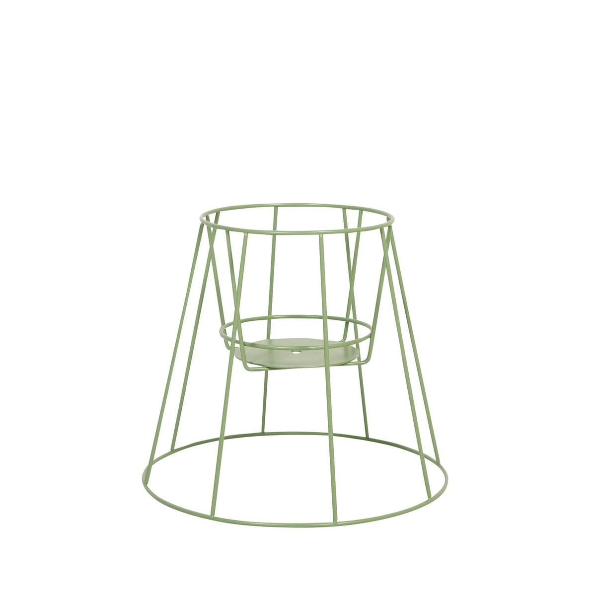 OK Design - Cibele Blumentopfständer H 30 cm, sea green   Garten > Pflanzen > Blumentöpfe   Grün   Metalldraht -  pulverbeschichtet   OK Design
