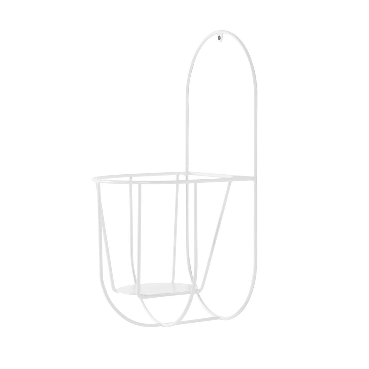 OK Design - Cibele Wand-Blumentopfhalter Large, weiß   Garten > Pflanzen > Blumentöpfe   Weiß   Metalldraht -  pulverbeschichtet   OK Design