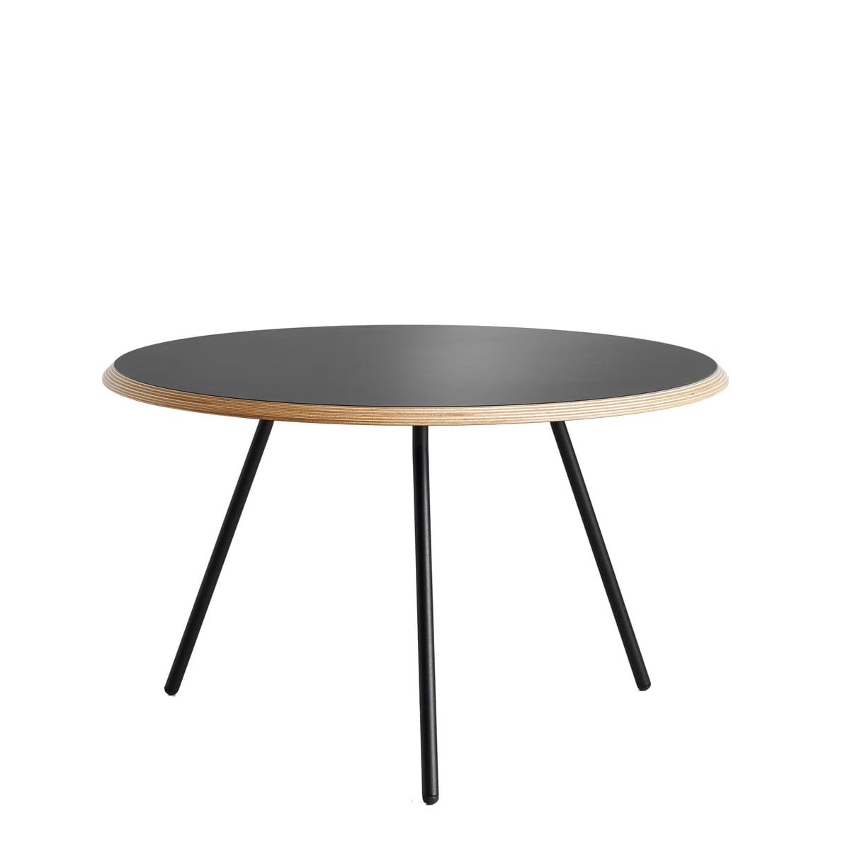 Woud - Soround Side Table H 39,5 cm / Ø 60 cm, Laminat schwarz (Fenix) | Baumarkt > Bodenbeläge > Laminat | Schwarz | Woud